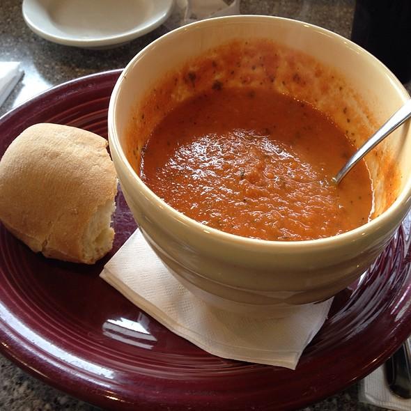 Tomato Basil Soup With Gluten Free Vegan Ciabatta