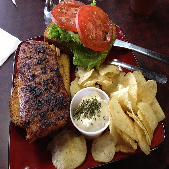 Blackened Salmon Sandwich at Caffe Tutti