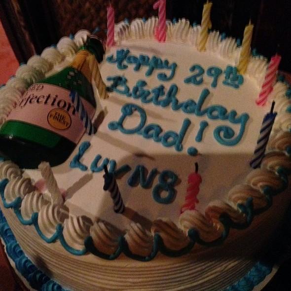 Birthday cake - Tonga Room & Hurricane Bar - Fairmont San Francisco, San Francisco, CA