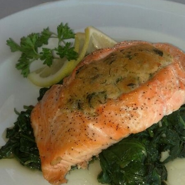 Crab Stuffed Salmon - Via Lago Trattoria, Chula Vista, CA