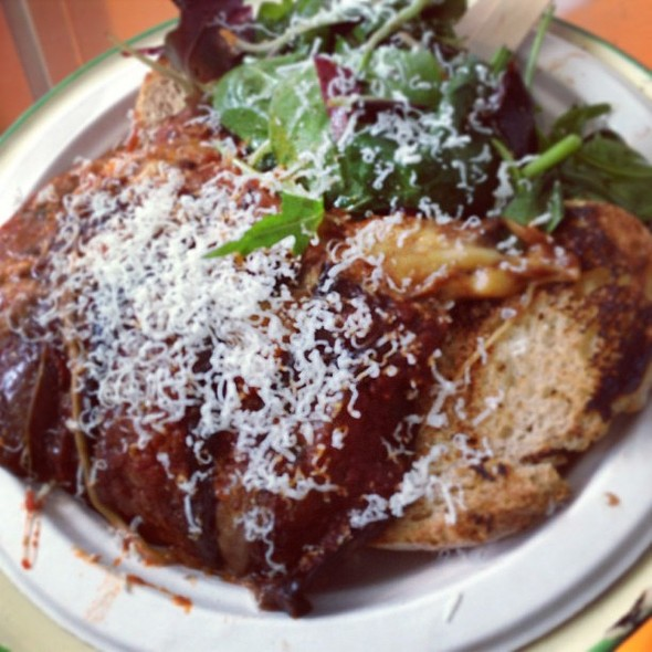 Parmiggiana from the cooking cooks @ Netil Market