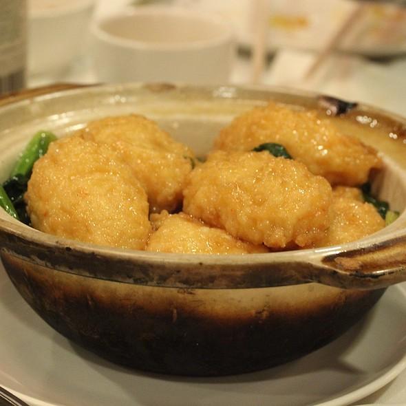 Claypot Tofu Stuffed With Shrimp @ Royal Garden Chinese Restaurant