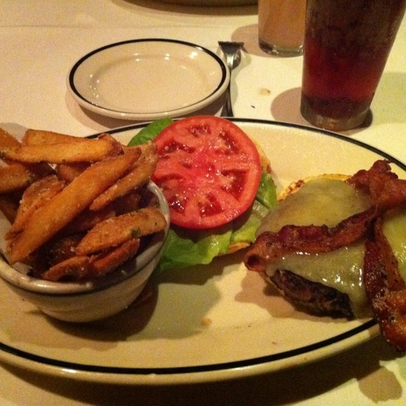 Prime Burger & Parmesan Triffle Oil Fries - Stoney River Steakhouse and Grill - Deer Park, Deer Park, IL