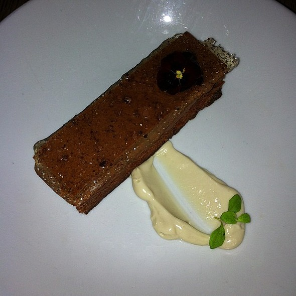 Dark Chocolate mousse with earl grey cream @ Thomas Cubitt