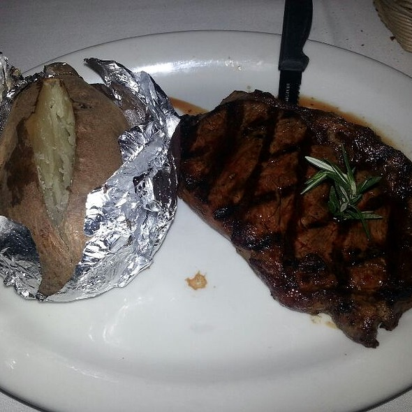 Ribeye Steak with baked potato - Colombo's Italian Steakhouse & Jazz Club, Eagle Rock, CA