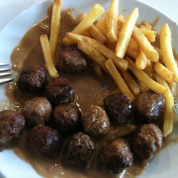 Meatballs with Cream Sauce @ IKEA