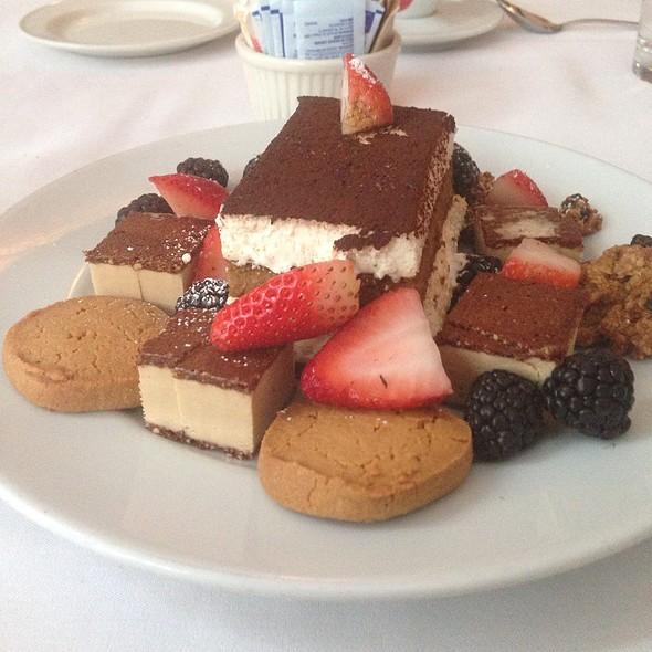 Dessert: Tiramisu, Cookies And Cut Up Bites Of Tartufo - Il Cantinori, New York, NY
