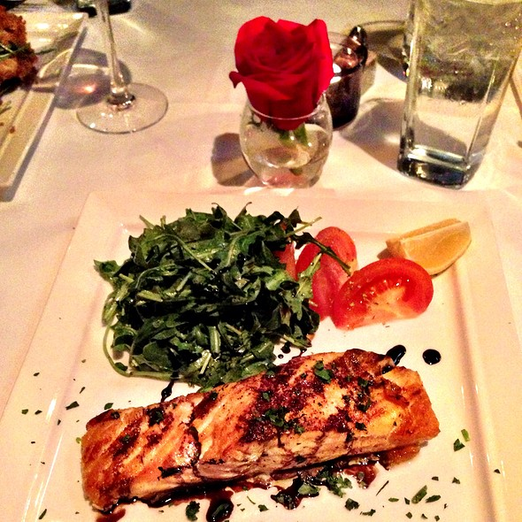 Salmon With Arugula And Balsamic Reduction - Tarantino Restaurant, Westport, CT