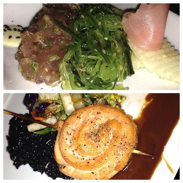salmon and tuna tartare @ Tantra Restaurant and Lounge