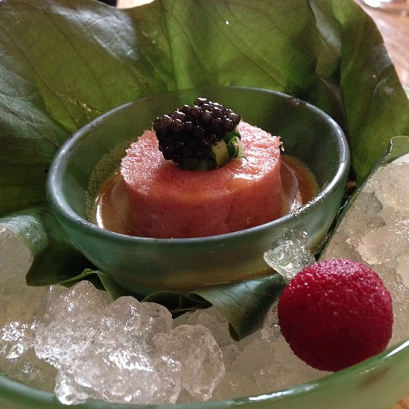 Toro Tartar With Wasabi Ice Cream @ Nobu