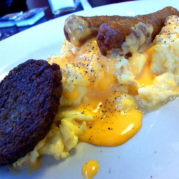 Scrambled Eggs with Melted Cheese @ Cold Harbor Restaurant
