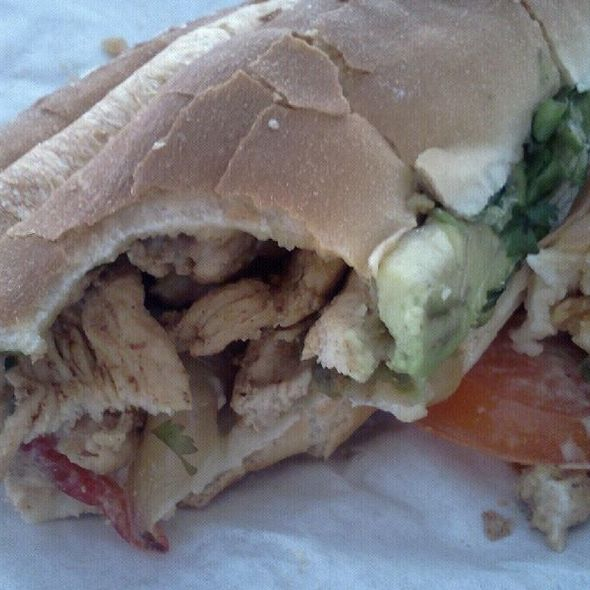 Chicken Fajita Sandwich @ Taco's Sandwiches