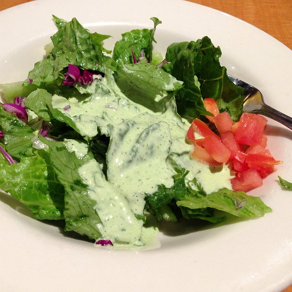 Salad With Cilantro Dressing @ Sabores