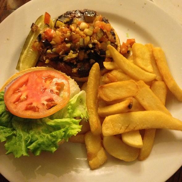 Mediterranean Burger @ Flippers Gourmet Burgers