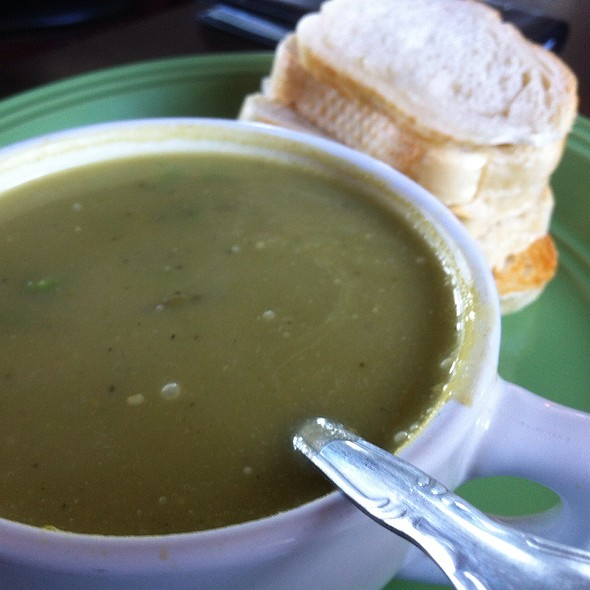 House-Made Creamy Asparagus Soup @ Picazo Cafe & Deli