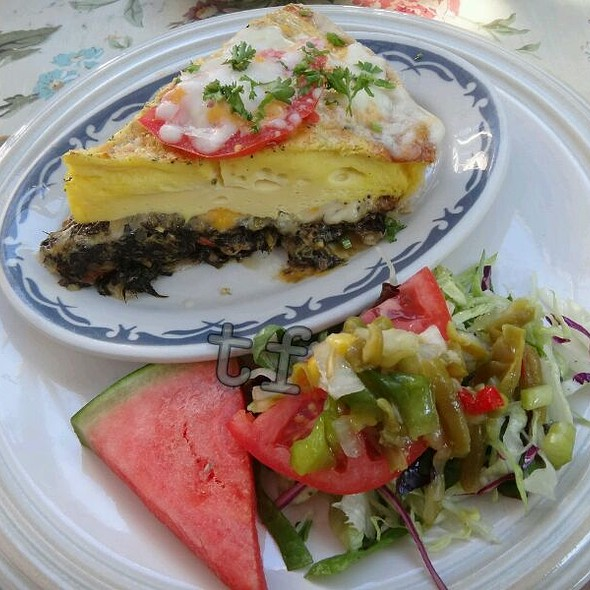Spinach Mushroom Cheese Quiche @ Lavender 'N Lace Tea Room