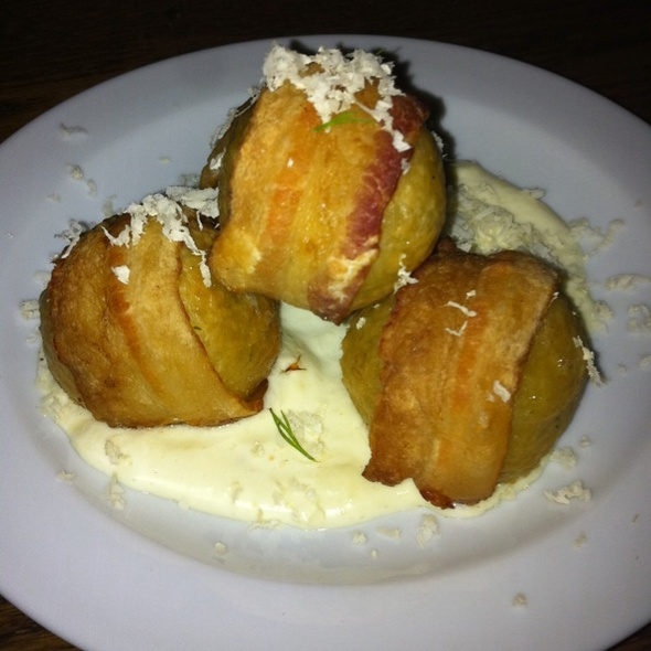 Bacon Wrapped Matzo Balls @ The Gorbals