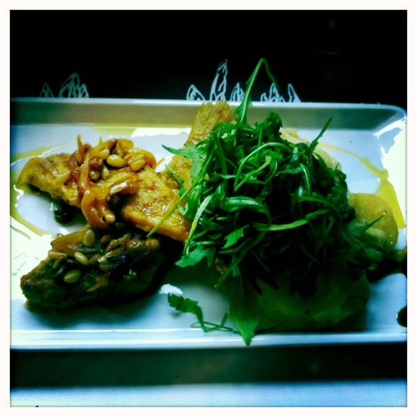 fried sole fish marinated in whitw wine @ Lari i Penati
