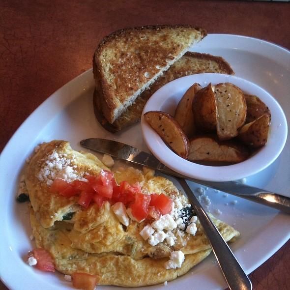 Spinach and Feta Omelette @ Red Onion Espressoria