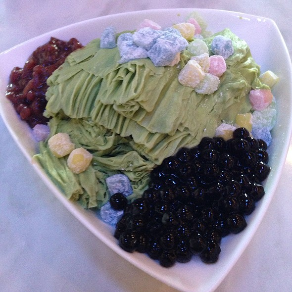 Green Tea Shave Ice With Red Bean @ Snowflake Tea House