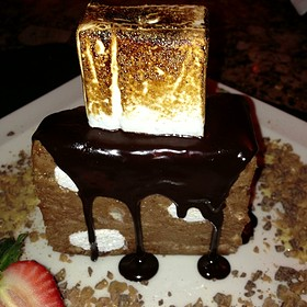 Milk Chocolate Mousse & Toasted Marshmallow (Old Moon Pie) - Pappas Bros. Steakhouse, Dallas, TX