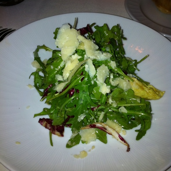 Arugala Salad With Parmesan  @ Harvest Restaurant