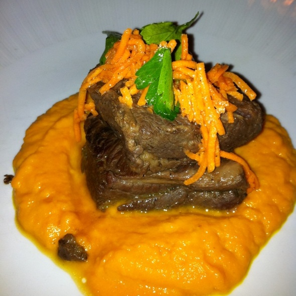 Short Ribs With Carrot And Ginger Puree @ Harvest Restaurant