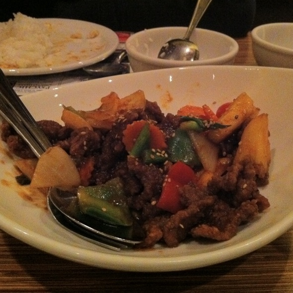 Crispy Beef With Tamarind Sauce @ Stars Of Thai Cuisine