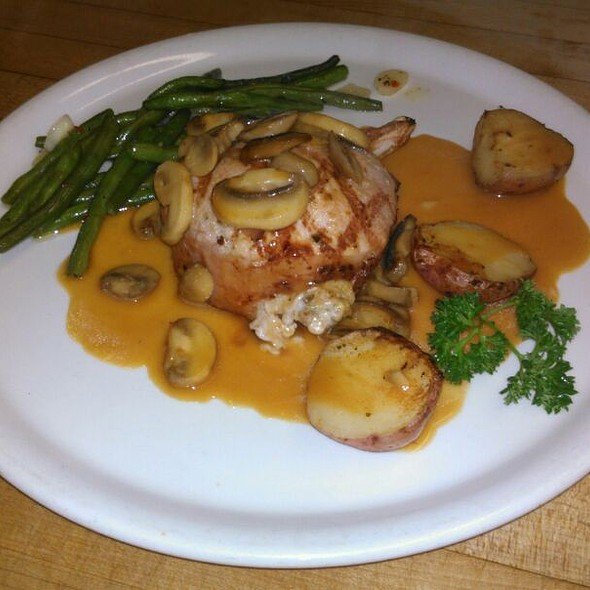Stuffed Pork Chop Mushroom Marsala, stuffed with sausage sage.stuffing - A Touch of Italy, Egg Harbor Township, NJ