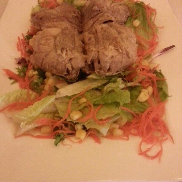 Salad partridge,  quail and nuts  @ Sucot