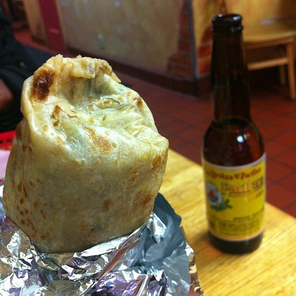[angels singing] keeping it and -- @ Taqueria Zorro
