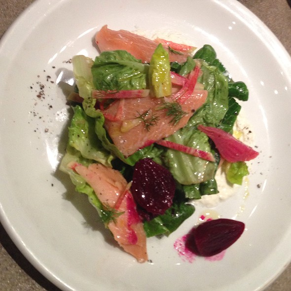 House Smoked Trout, Little Gems, Pickled Beets And Horseradish Cream