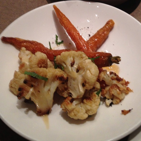 Roasted Cauliflower, Carrots, Honey And Mint