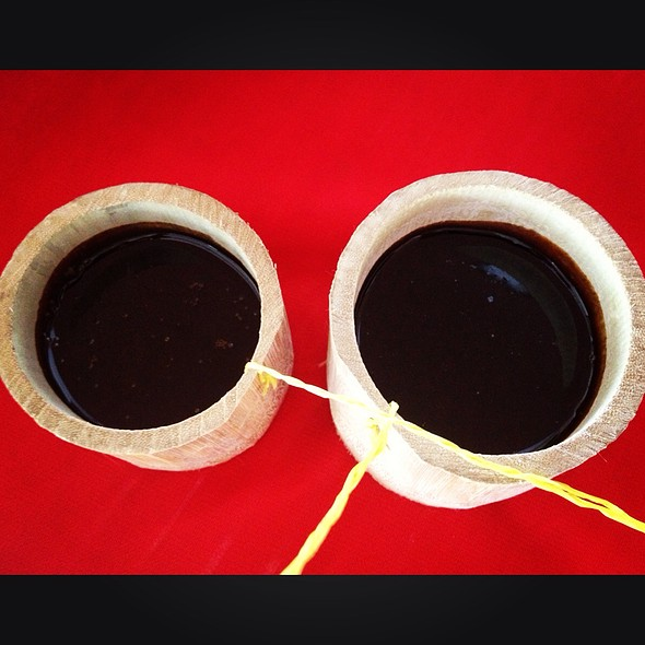 """Pulot"" Muscovado Syrup W/ Coconut Milk In Bamboo Cups"