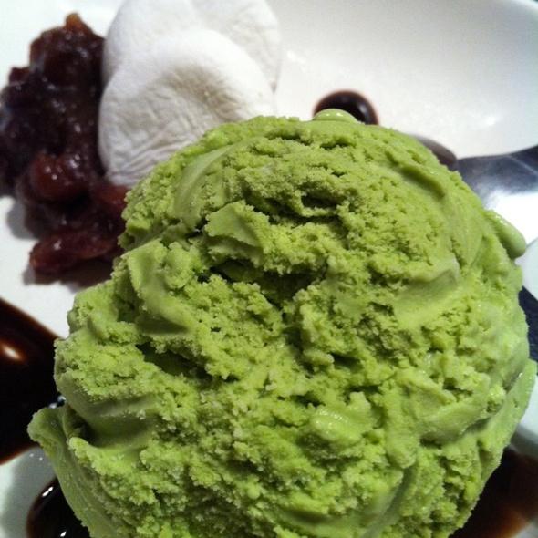 Green Tea Ice Cream @ Bankara Ramen