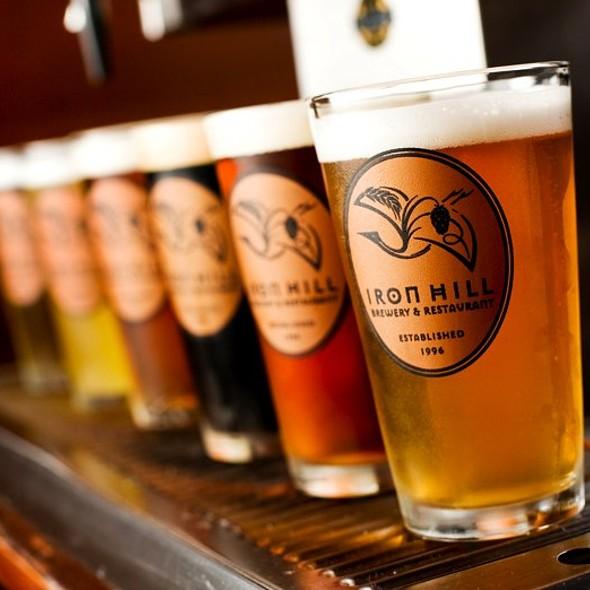 Beer Flight @ Iron Hill Brewery & Restaurant