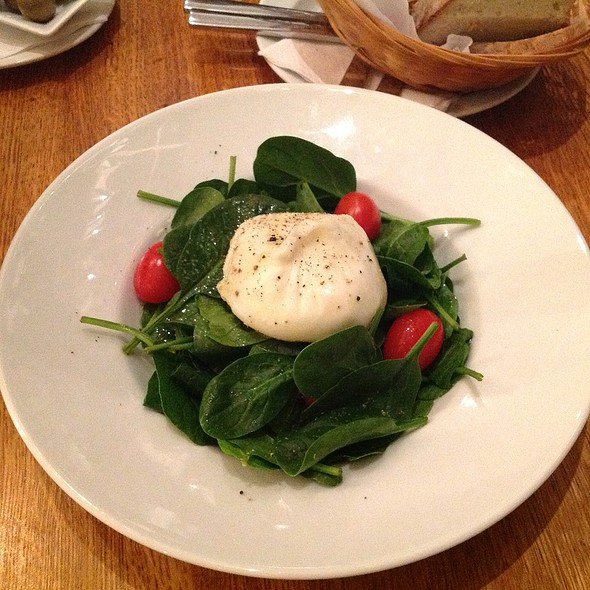 Burrata Cheese With Spinach Salad
