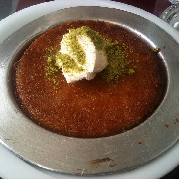 Künefe with clotted cream