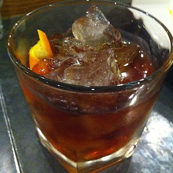 Dark rum old fashioned @ Quod Brasserie & Bar