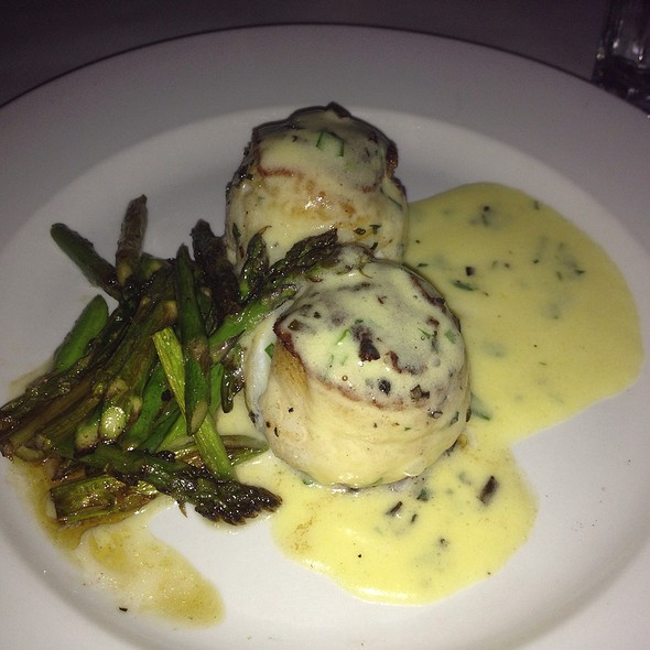 Crab Stuffed Sole With Asparagus - Edibles Restaurant, Rochester, NY