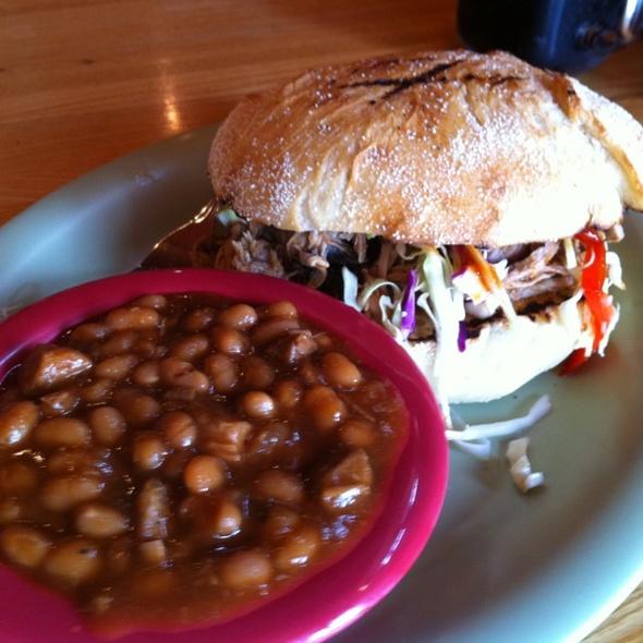 Pulled Pork Sandwich @ Roadside BBQ