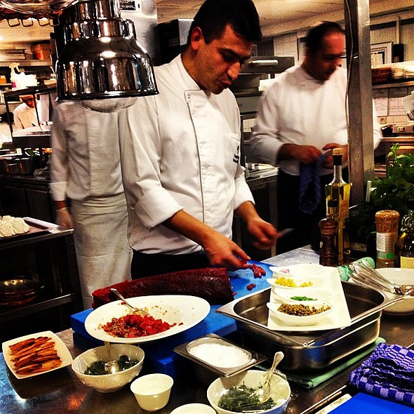 Savas Aydemir preparing at Four Seasons Hotel Sultanahmet's Seasons Restaurant @ Four Seasons Hotel Istanbul at Sultanahmet
