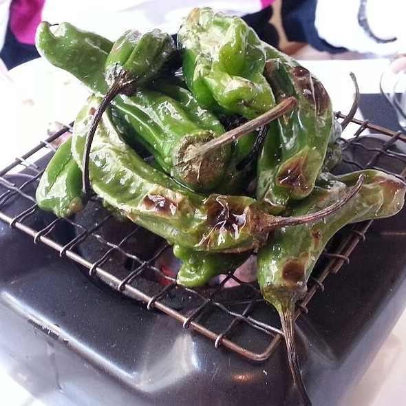 Hibachi Grilled Shishito Peppers