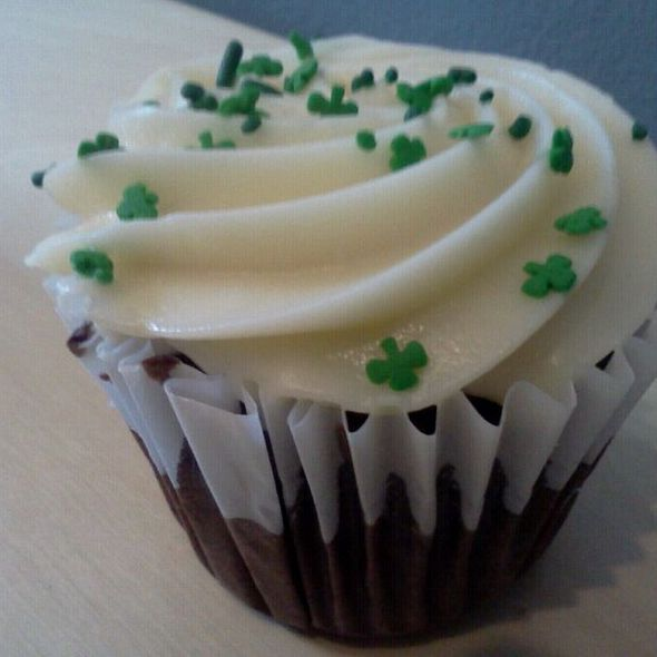 Guiness Chocolate Cupcake with Cream Cheese Frosting @ Sugar Mama's Bakeshop