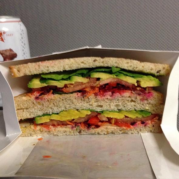 Hummus & Garden Veggies Sandwich @ Pret A Manger