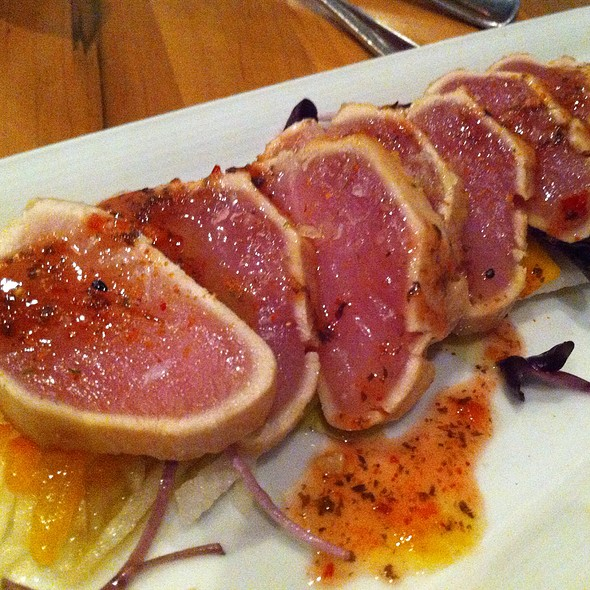 B.C. Albacore Tuna Tataki @ Oliver & Bonacini Cafe Grill