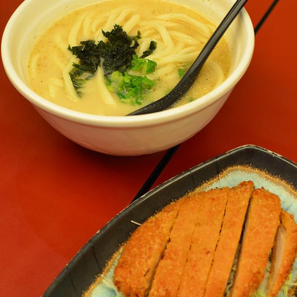 Udon with Fried Pork Chop in Pork Soup @ Jika Udon