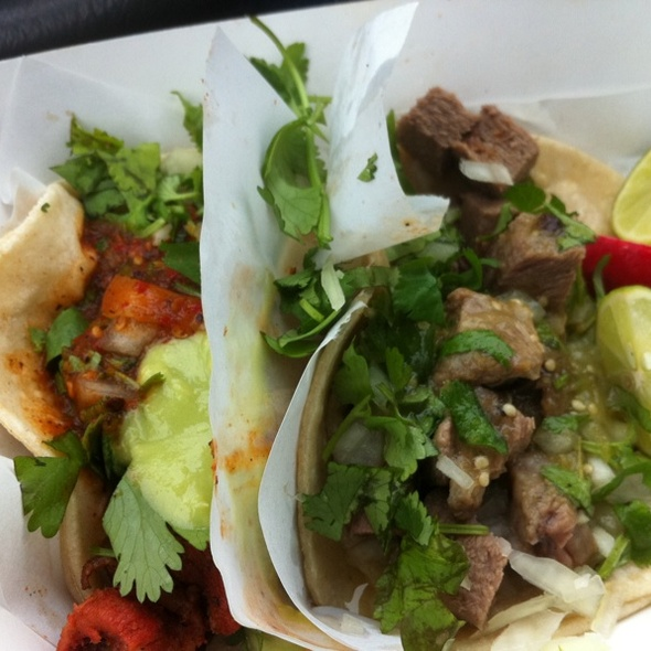 Lengua And Adobada Tacos @ Chando's Taco