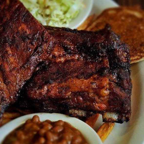 Cherry Smoked Baby Back Ribs - Puckett's 5th & Church, Nashville, TN