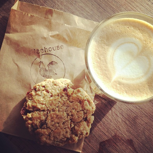 Trail Mix Cookie & Latte @ The Rooster Coffee House